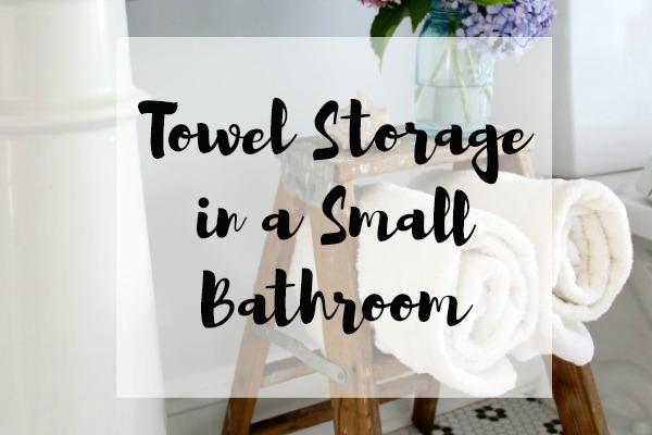 Towel Storage in a Small Bathroom