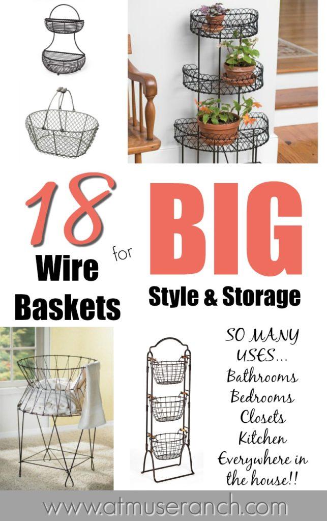 Wire Baskets for Storage