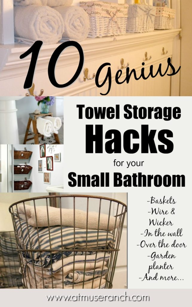 towel storage hacks