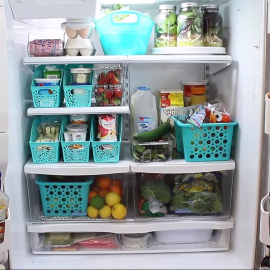 How to Organize a Refrigerator with Dollar Store Bins