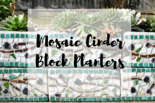 Mosaic Cinder Block Planters