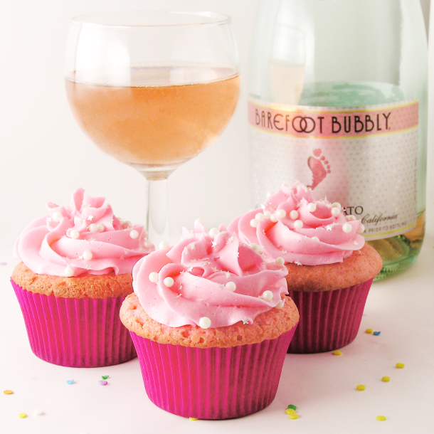 Party food for a crowd cupcake and champagne party