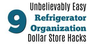 9 Unbelievably Easy Refrigerator Organization Dollar Store Hacks