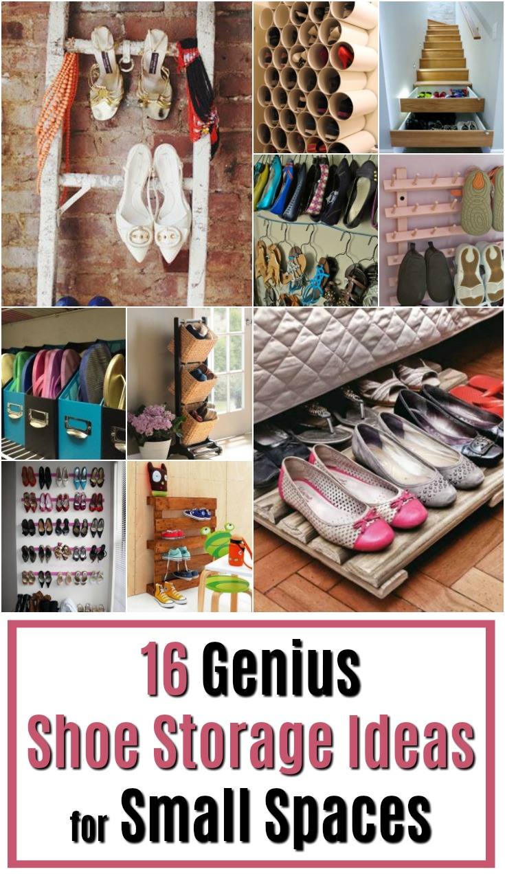 16 genius shoe storage ideas for small spaces at muse ranch - Shoe rack for small spaces image ...