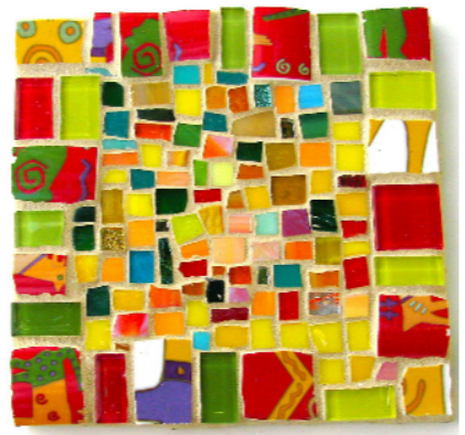 mosaic cinder block planter 11
