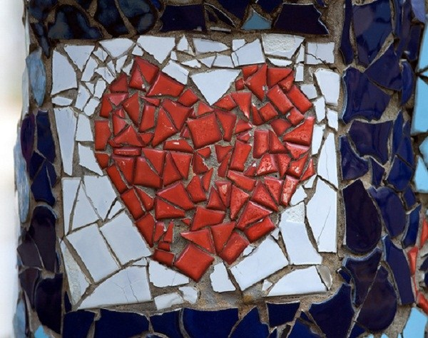mosaic cinder block planter 8