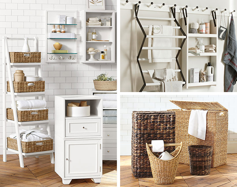 Count On Pottery Barn For More Small Bath Towel Storage Ideas