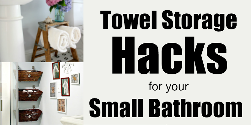 towel storage in a small bathroom