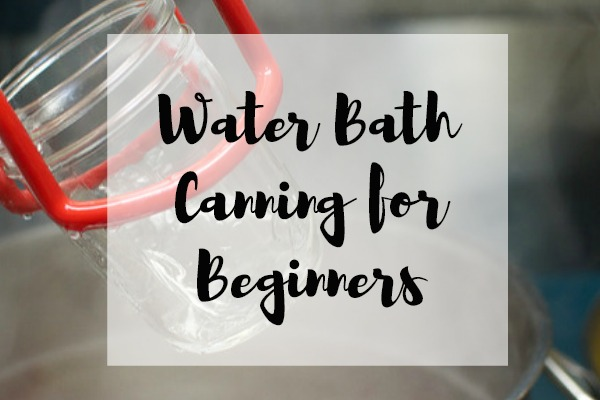 Water Bath Canning for Beginners