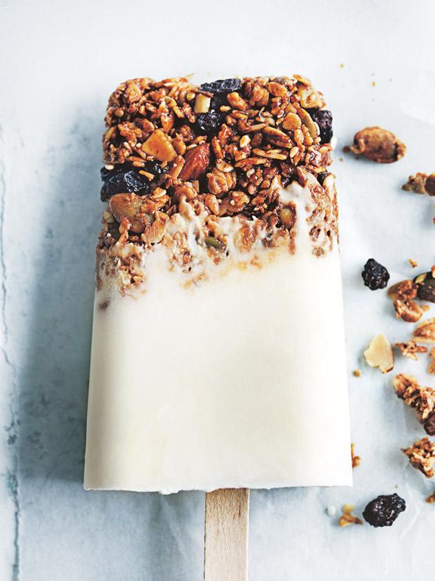 yogurt granola Popsicle recipe