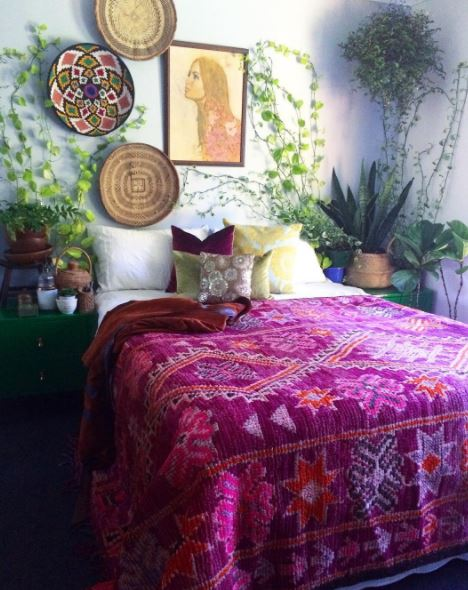 Moroccan Bedroom with Color and Plants