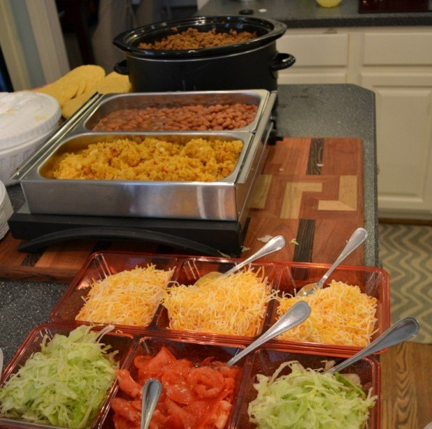 Party Food for a Crowd taco bar