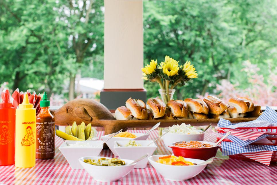 Party Food for a Crowd Hot Dog Bar