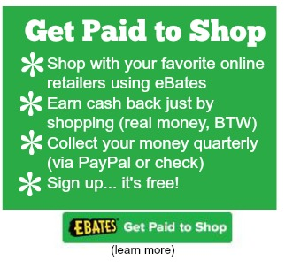 Earn money back with eBate - Like getting paid to shop!