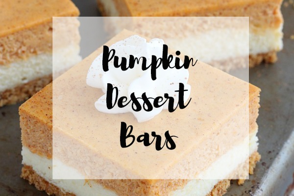 Pumpkin Dessert Bars
