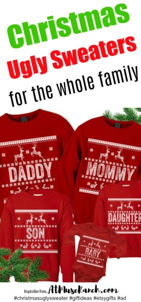 Christmas Ugly Sweaters for the Whole Family