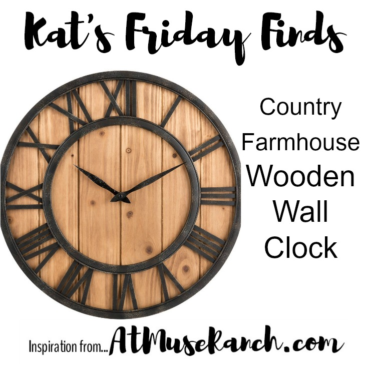 Country Farmhouse Wooden Wall Clock