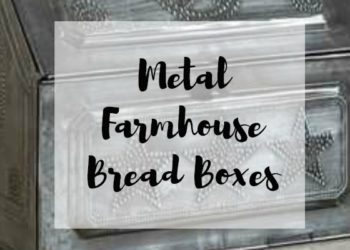Metal Farmhouse Bread Boxes Add Vintage Appeal to Your Kitchen