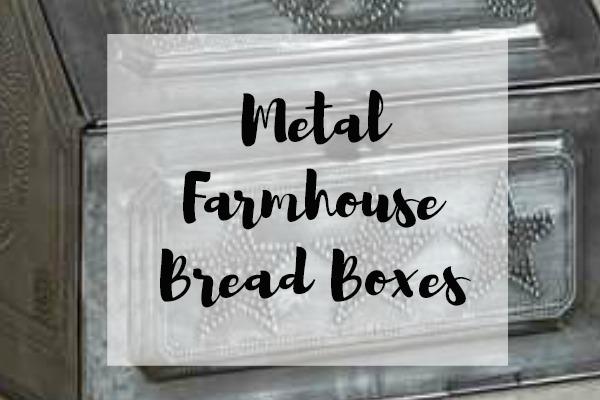 Metal Farmhouse Bread Boxes