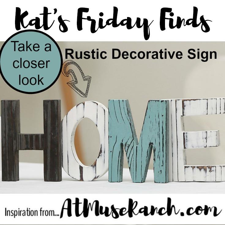 Rustic Decorative Sign