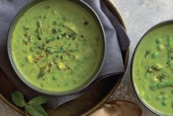 green pea, asparagus and parsley soup from Rachel Beller