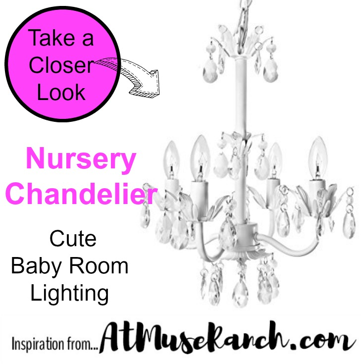 nursery chandelier baby room lighting